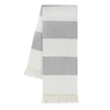Rugby Stripe Throw - Light Gray
