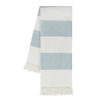 Rugby Stripe Throw - Glacier