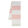 Rugby Stripe Throw - Blush