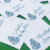 Monogrammed Tented Place Cards