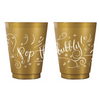Pop the Bubbly Frosted Cups- Gold