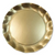 Wavy Salad Plate- Satin Gold