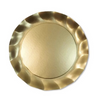 Wavy Dinner Plate- Satin Gold