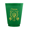 Golf Crest Frosted Cups - Green