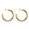 Chantal Hoop Earring - Brushed Gold