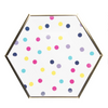Hexagon Dinner Plate - Confetti