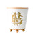 Monogrammed Small Color Block Cachepot