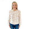 Classic Scalloped Sweater - Neutral Spot Cheetah