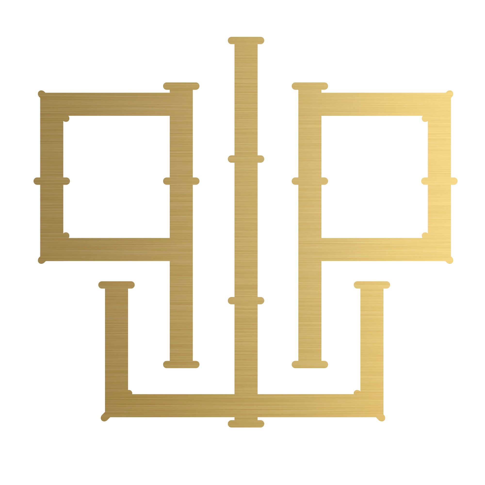 1 or 2 letter couture monogram