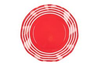 Wavy Salad Plate- Summer Red
