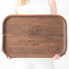 Monogrammed Rectangular Tray - Walnut