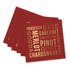 Wine and Cheese Beverage Napkins