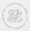 Luxury Gold Return Address Embosser - Woven Monogram (1 or 2 Letters)