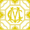 Capri Tile Monogram Pillow