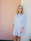 Dallas Dress Balloon Sleeve - Bleu Dot