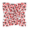 Red & Black Spot Cheetah Gameday Scarf