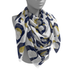 Navy & Gold Spot Cheetah Gameday Scarf
