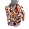 Purple & Orange Spot Cheetah Gameday Scarf