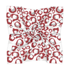 Crimson & Gray Spot Cheetah Gameday Scarf
