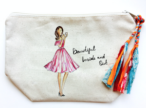"""Beautiful Inside & Out"" Makeup Bag (Medium)"
