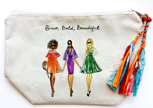 Brave, Bold, Beautiful Makeup Bag (Large)
