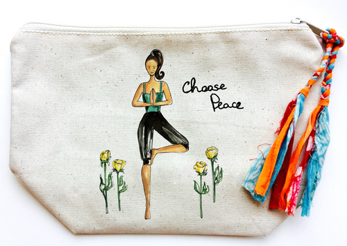 Choose Peace Makeup Bag (Large)