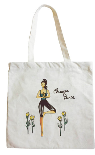 Choose Peace Yoga Tote