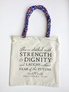 Quote Proverbs 31 Tote Bag
