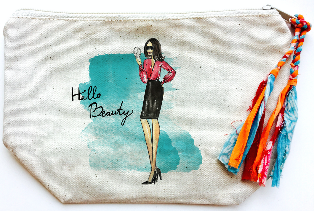 Hello Beauty Makeup Bag (Large)
