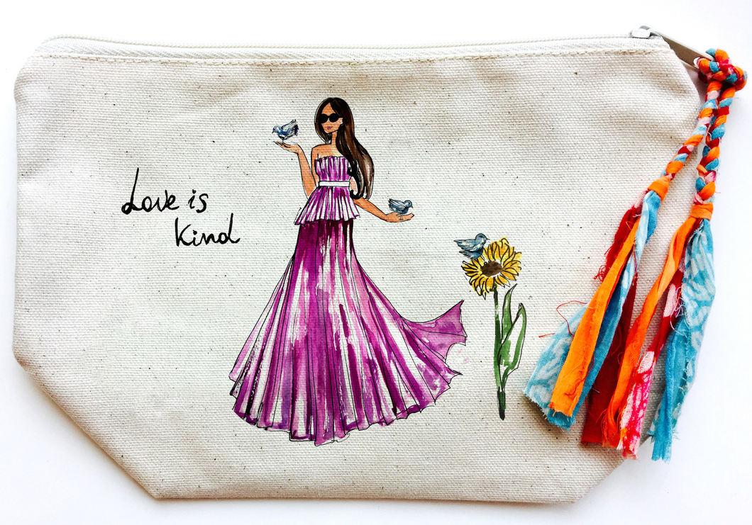Love is Kind Makeup Bag (Large)