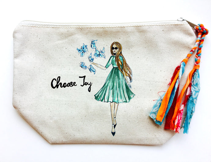 Choose Joy Makeup Bag (Large)