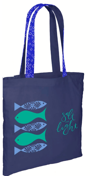 Salt & Light Navy Tote