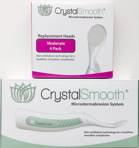 BEAUTY BUNDLE: CrystalSmooth Starter Kit AND 4-Pack of Moderate Replacement Heads