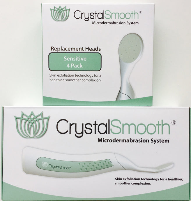 BEAUTY BUNDLE: CrystalSmooth Starter Kit AND 4-Pack of Sensitive Replacement Heads