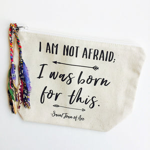 Quote Joan of Arc Makeup Bag (Large)