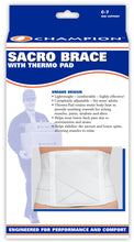 SACRO BRACE WITH THERMO-PAD PACKAGING