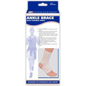FRONT OF ANKLE BRACE WITH FLEXIBLE STAYS PACKAGING