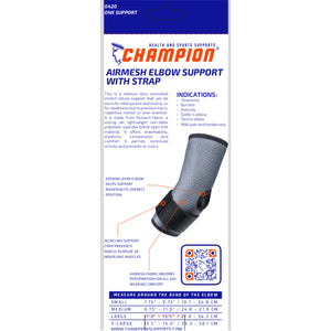 0420 / AIRMESH ELBOW SUPPORT WITH STRAP / PACKAGING