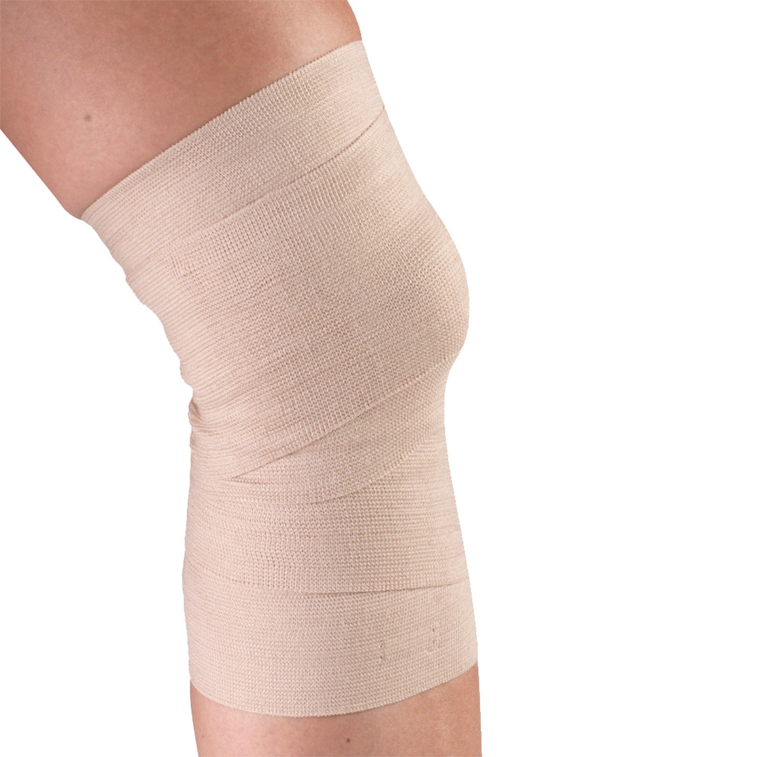 "4"" WIDE ELASTIC BANDAGE ON KNEE"