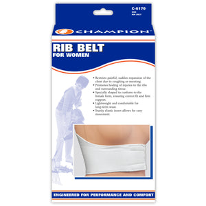 FRONT OF RIB BELT FOR WOMEN PACKAGING