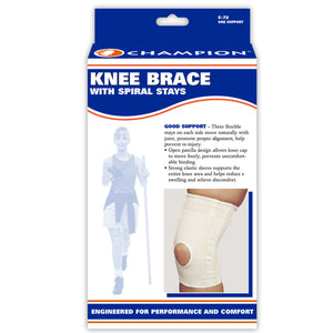 FRONT OF KNEE BRACE WITH FLEXIBLE STAYS PACKAGING
