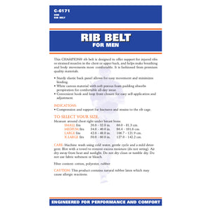 BACK OF RIB BELT FOR MEN PACKAGING