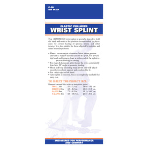 C-50 / ELASTIC PULLOVER WRIST SPLINT - REVERSIBLE / PACKAGING