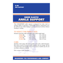 C-64 / SHEER ELASTIC ANKLE SUPPORT / PACKAGING