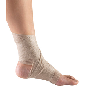 INNER VIEW OF SELF-ADHERING ELASTIC BANDAGE ON FOOT