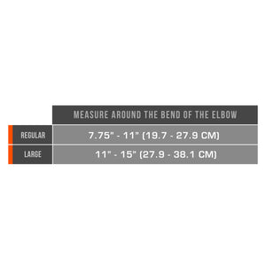 AIRMESH TENNIS ELBOW STRAP SIZE CHART