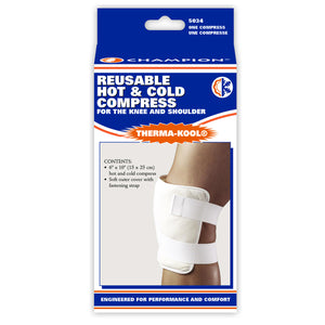 "THERMA-KOOL REUSABLE HOT / COLD COMPRESS 6"" X 10"" FOR KNEE AND SHOULDER PACKAGING"