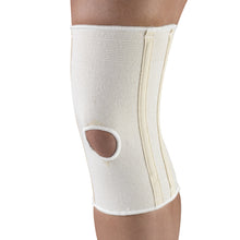 TILTED VIEW OF KNEE BRACE WITH FLEXIBLE STAYS