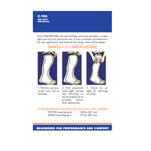 BACK OF CAST PROTECTOR HALF-LEG PACKAGING