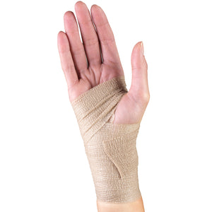 SELF-ADHERING ELASTIC BANDAGE ON HAND